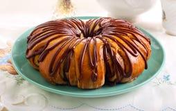 Gâteau de cannelle d'amitié Image libre de droits