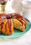 Gâteau de cannelle d'amitié Photographie stock