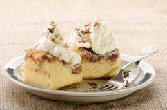 Gâteau de cannelle d'Apple d'un plat Photographie stock