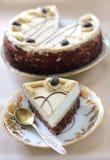 Gâteau de cappuccino Photographie stock