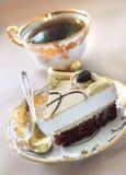 Gâteau de cappuccino Photos stock