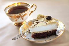 Gâteau de cappuccino Photo stock