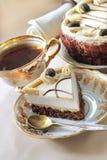 Gâteau de cappuccino Photo libre de droits