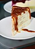 Gâteau de caramel. Image stock