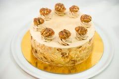 Gâteau de caramel d'amande  photo stock