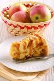 Gâteau de caramel d'Apple et de caramel, Image stock