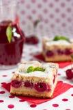 Gâteau de cerise Photo libre de droits