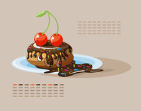 Gâteau de cerise Image libre de droits
