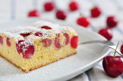 Gâteau de cerise Photo stock