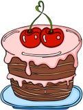 Gâteau de cerise d'amour illustration stock
