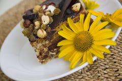 Gâteau de Choco sur le fond de paille Photos libres de droits