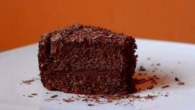 Gâteau de chocolat banque de vidéos