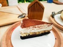 Gâteau de chocolat au lait Photo stock