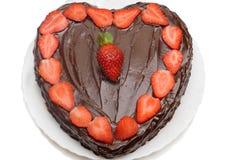 gâteau de chocolat avec des fraises Photo libre de droits