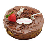 Gâteau de chocolat avec la fraise Photographie stock libre de droits