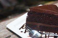 Gâteau de chocolat avec le coffe images libres de droits