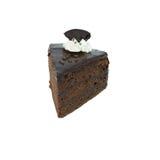 Gâteau de chocolat avec le fond blanc Photographie stock libre de droits