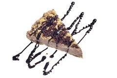 Gâteau de chocolat avec le sirop Images stock