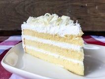 Gâteau de chocolat blanc Image stock