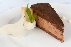Gâteau de chocolat décoré Image libre de droits