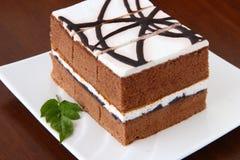 Gâteau de chocolat délicieux Photographie stock libre de droits