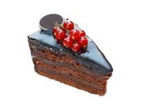 Gâteau de chocolat délicieux Image libre de droits