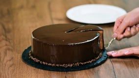 Gâteau de chocolat délicieux fait maison clips vidéos