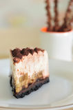 Gâteau de chocolat de banane Image stock