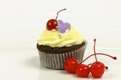 Gâteau de chocolat de cerise Images stock