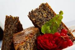 Gâteau de chocolat de dessert Images libres de droits