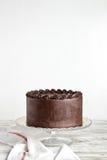 Gâteau de chocolat de la nourriture du diable photographie stock libre de droits