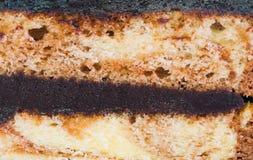 Gâteau de chocolat de plan rapproché Images libres de droits