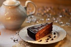 Gâteau de chocolat de Sasher Images libres de droits