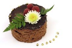 Gâteau de chocolat de source Photo libre de droits