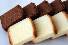 Gâteau de chocolat et de vanille images libres de droits