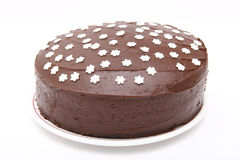 Gâteau de chocolat fait maison Image stock