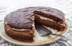 Gâteau de chocolat fait maison Photo libre de droits