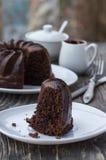 Gâteau de chocolat foncé Image libre de droits