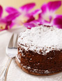 Gâteau de chocolat fondu Photographie stock