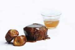 Gâteau de chocolat pour le café arabe image libre de droits