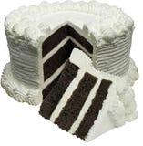 Gâteau de chocolat rond Images stock