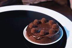 Gâteau de chocolat savoureux Image libre de droits