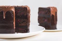Gâteau de chocolat sucré photo libre de droits