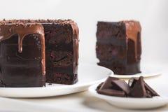 Gâteau de chocolat sucré image libre de droits