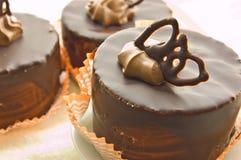 Gâteau de chocolat trois Photos stock