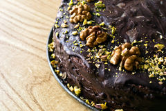 Gâteau de Chokolate Photos libres de droits