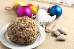 Gâteau de christamas de Pangiallo Images libres de droits