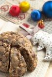 Gâteau de christamas de Pangiallo Photos libres de droits