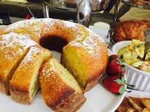 Gâteau de citron photo stock