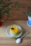 Gâteau de citron Photos stock